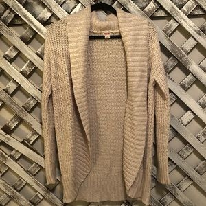 Cream fold over cardigan